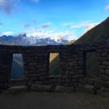 Winay Wayna view through windows