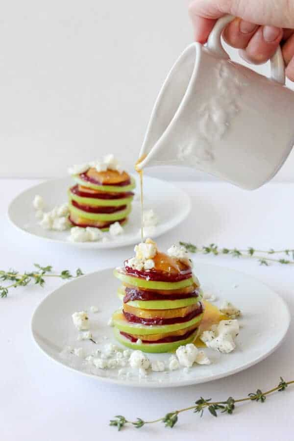 Beet and Apple carpaccio with Feta