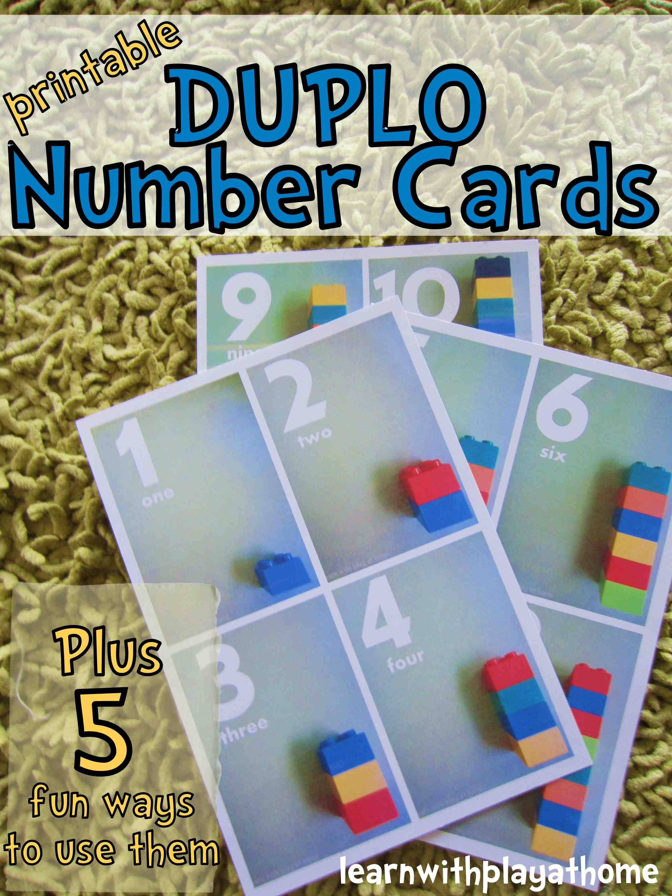 Printable Duplo Number Cards By Learn With Play At Home