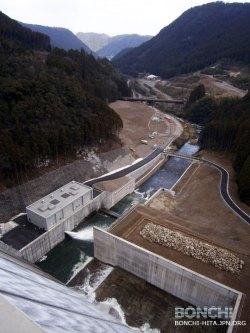 大山ダムの一般公開