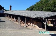 小鹿田焼の登り窯