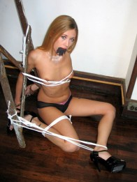 Bedroom Bondage Action with humiliated Girlfriends