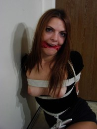 Brunette Girlfriend gets tightly bound and gagged