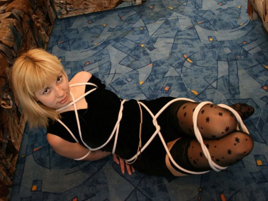 Cute Czech Girlfriend gets tightly bound at Home