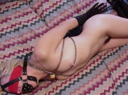 Hot Amateur Blond is tied and blindfolded in Bedroom