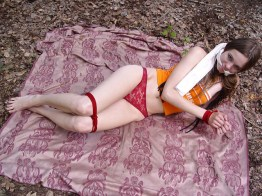 Hot Girl from Russia Olga is tied up in Nature