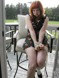 Hot Redhead Elizabeth gets bound and gagged at Home