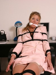 Lazy Secretary bound and gagged at Work for Punishment