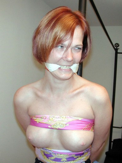 Slutty Amateur Housewives tied up and ready for Sex