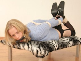 Submissive Czech Girlfriend tightly tied and gagged