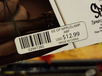 """""""Nipple clamps"""" at Spencer's (the price)"""