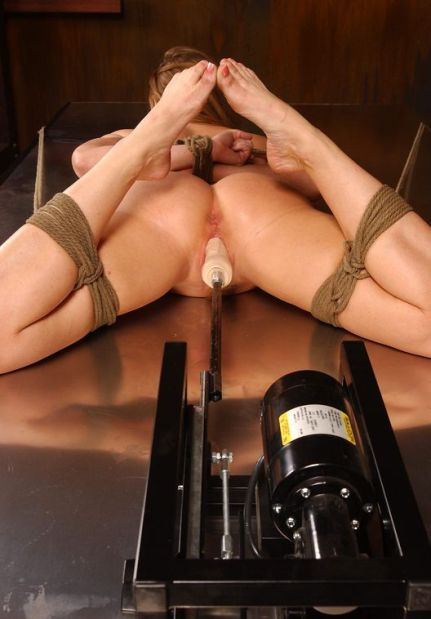 Beautiful Blonde Restrained, Gagged and Penetrated in Dungeon