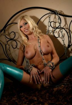 Busty Young Blonde in Heels Gets Chained in the Bedroom for Punishment