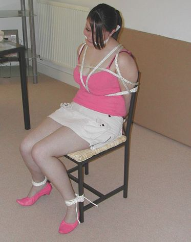 Cute Curvy Girlfriend Cleave Gagged and Tightly Bound by Her Boyfriend