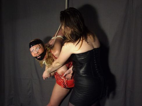Cute Curvy Slave Tortured Hard by Her Gorgeous Mistress in Leather