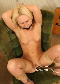 Cute Young Blonde Gets Restrained, Ball Gagged and Disciplined Hard