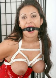 Gorgeous Latina in a Corset Gets Tightly Bound and Humiliated Hard