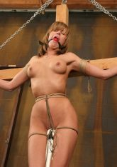 Hot Young Blonde Gets Bound, Crucified and Tortured in the Dungeon