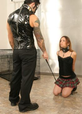 Hot Young Brunette Gets Trained and Disciplined Hard