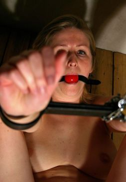 Sexy Blond Slave Gets Stripped, Restrained and Penetrated for Fun