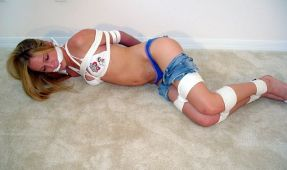 Sexy Young Girlfriend Bound and Punished in Basement for Fun