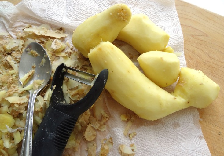 peeled-ginger