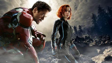 iron man and black widow