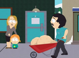 South Park wheelbarrow carrying testicles