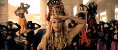 Beyonce saluting in music video for Run the World
