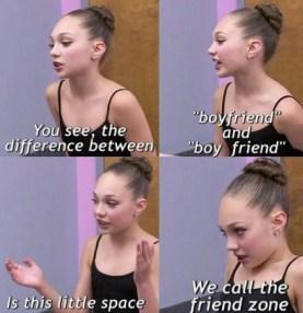 Maggie Ziegler quote friend-zone