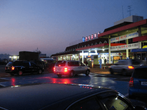 A typical road-side highway rest stop in Korea.