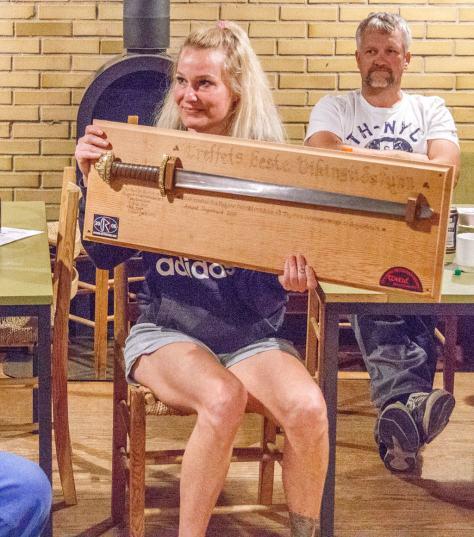 Renate Karlsen gjorde det bedste vikingefund, en trefliget fibel (fik den desværre ikke fotograferet)