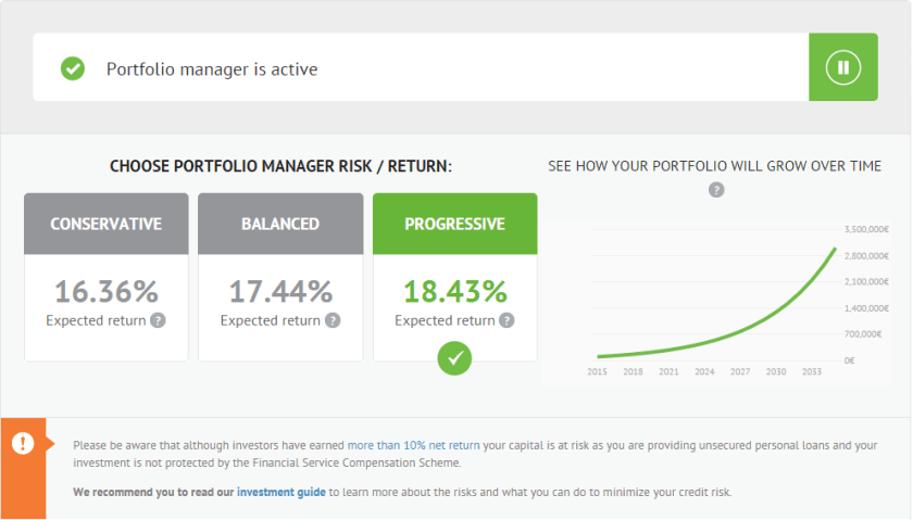 Upgraded design of the Portfolio Manager