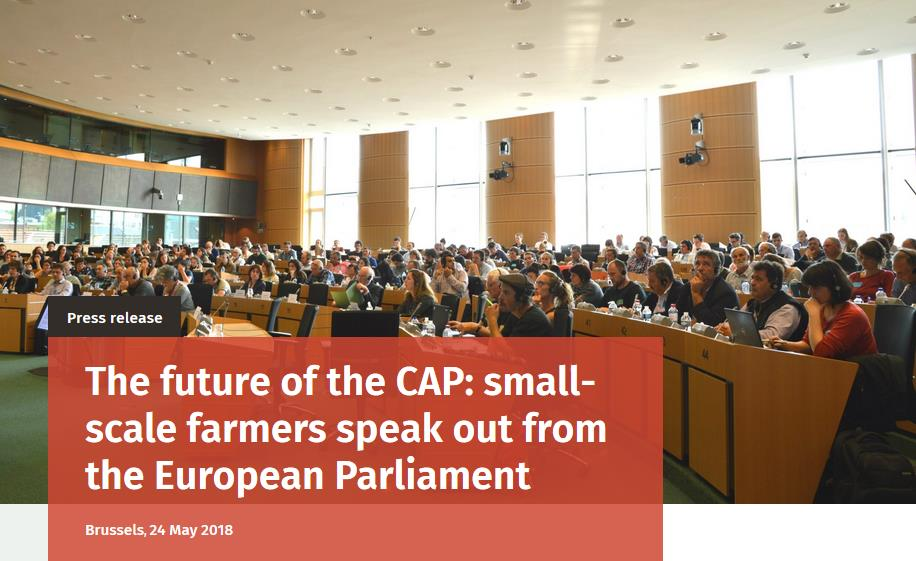 The future of the CAP: small-scale farmers speak out from the European Parliament