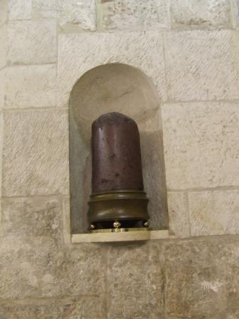 Santo Sepolcro colonna flaggellazione