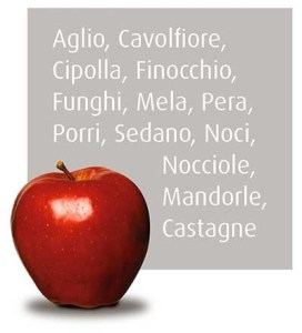 Frutta e verdura bianca