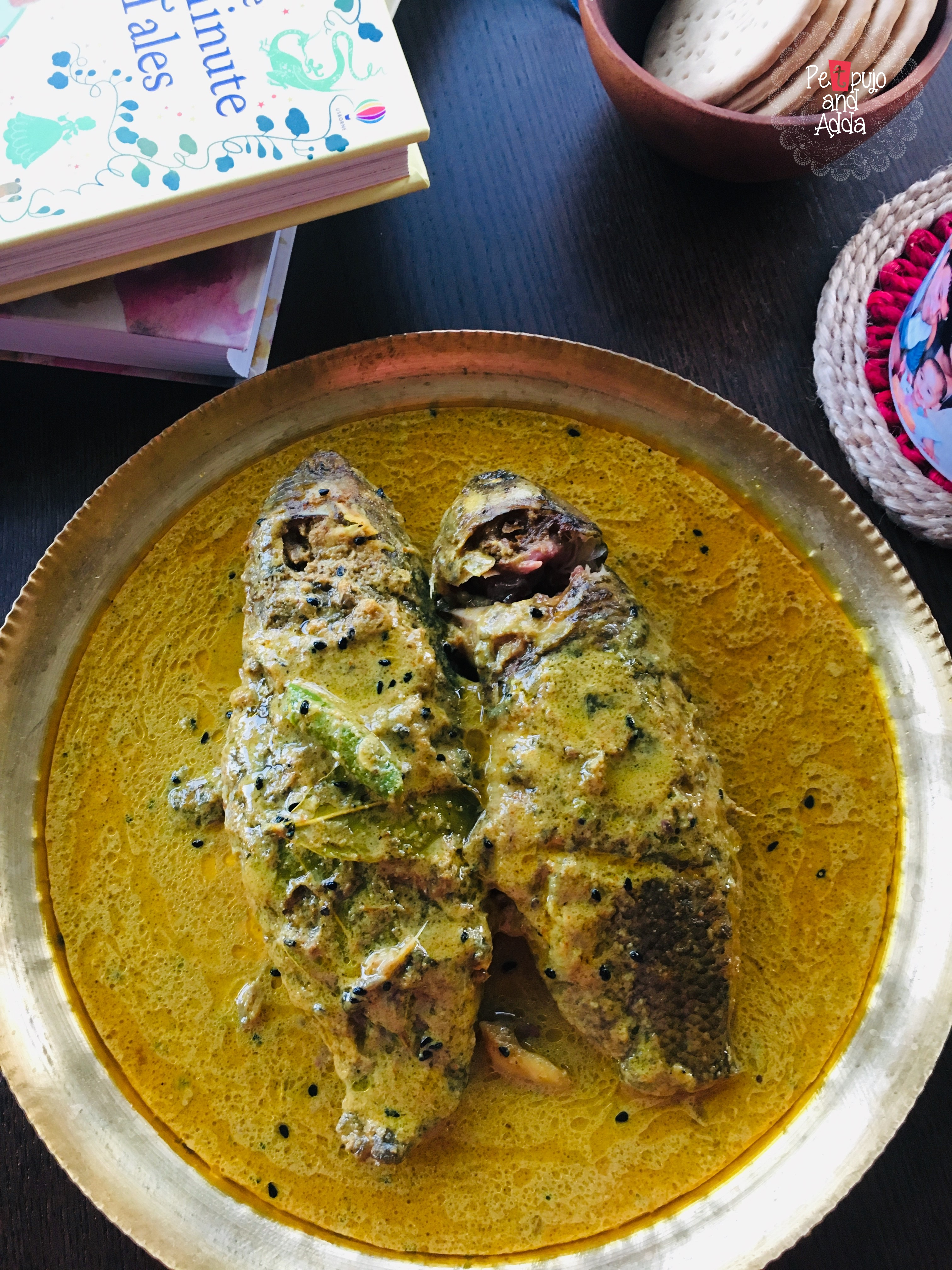 Koi Macher Kalia( Climbing Perch in a coconut milk gravy) and a mother's Whimsical life