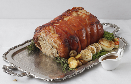 Porchetta with Truffle Risotto