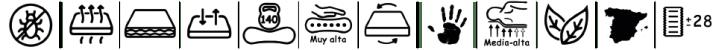 Características del colchón perfilado Densivip de bonitex