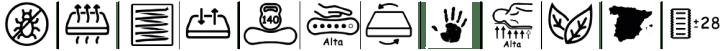 Caracteristicas del colchón de muelles ensacados Platinium de Bonitex