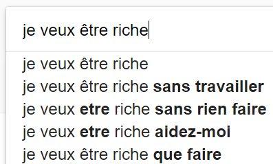 La recherche sur Google fait apparaître