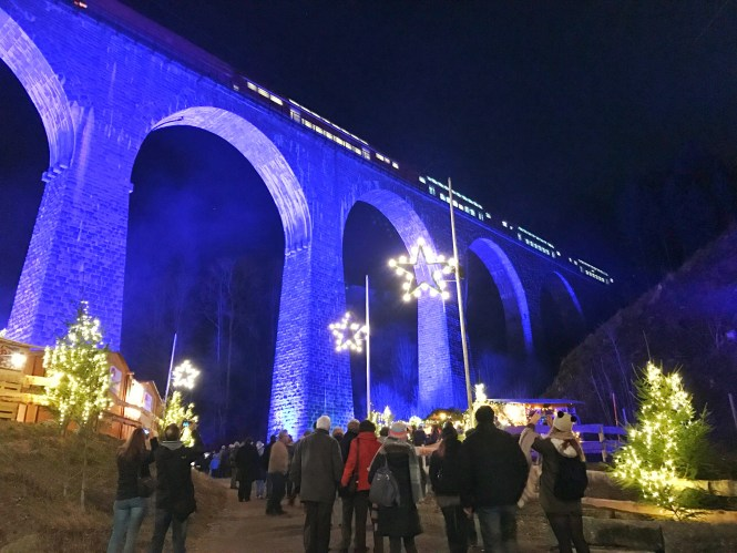 Germany Black Forest Ravenna Gorge Christmas Market Train Mountain
