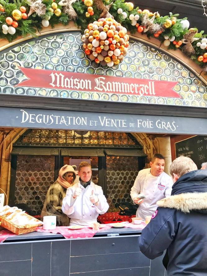 Strasbourg France Christmas Market Foie Gras Booth
