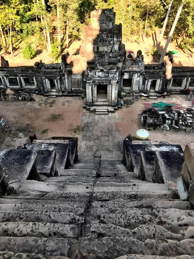 Angkor wat siem reap cambodia stairs