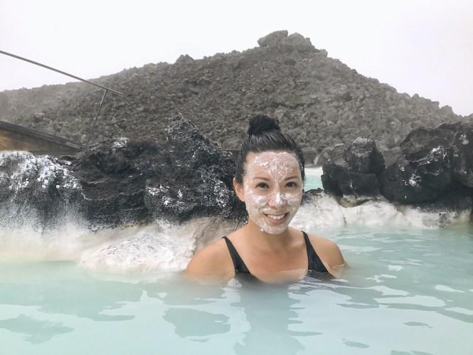 Blue lagoon Reykjavik Iceland Silica mask