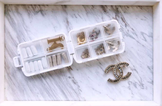 pill box jewelry organizer for travel