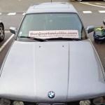 Sigle Bonjourlavieille posé sur le tableau de bord de la M5...pour les passants ;)