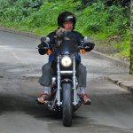 Pascal B. et Z. en Harley Davidson