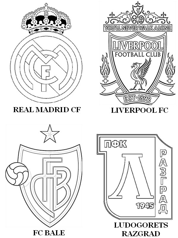 Free Coloring Pages Of Realmadrid Logo