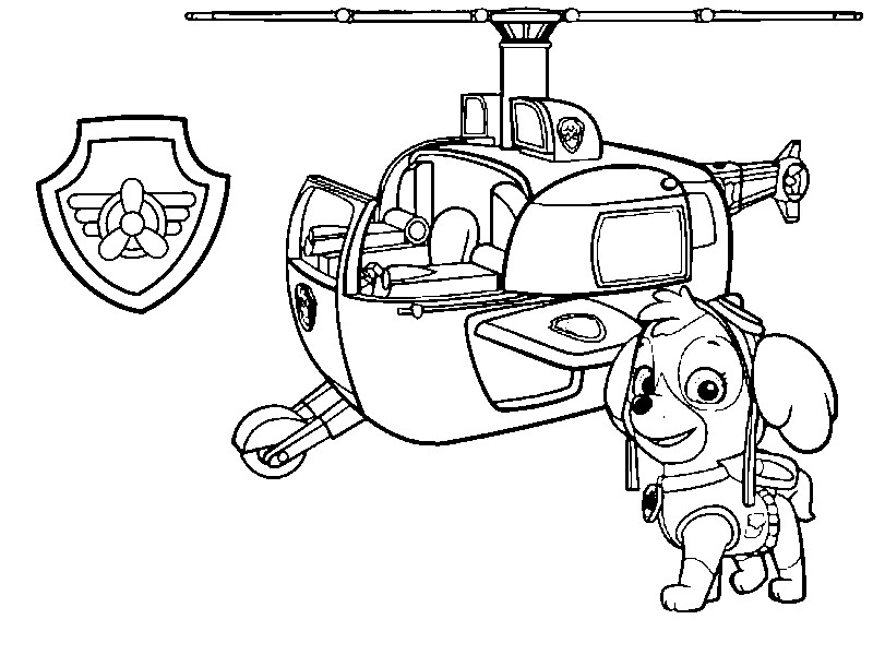 Coloriage Pat Patrouille Badge.Helicopter Coloring Page Coloriage Pat Patrouille Stella Son